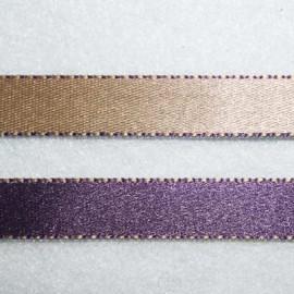 Cinta doble cara violeta y beige 10mm