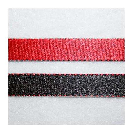 Cinta doble cara negro y rojo 10mm