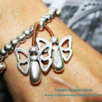 Nuevas mariposas pasantes pequeñas de zamak bañado en plata