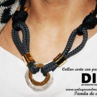 Collar corto por menos de 11 euros. Video, DIY en nuestro Facebook (Unlugarenelmundo)