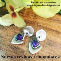 NUEVAS RESINAS TRIANGULARES de colores (charms)
