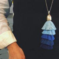 Nuevos collares, nuevas borlas de 5 colores GRANDES