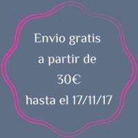 Envíos gratis a partir de 30€ para península y para Baleares, Canarias, Ceuta y Melilla a partir de 60€