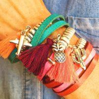 Pulseras con los colores del verano...