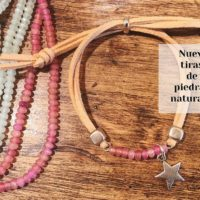 Pulsera con antelina y piedras naturales