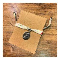 4- Pulsera para Comunión con cinta Liberty y detalle de perla