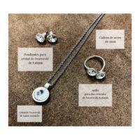 Conjunto de pendientes, collar y anillo