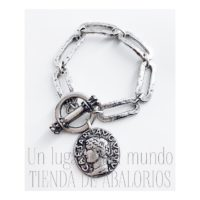 Pulsera anillas rectangulares