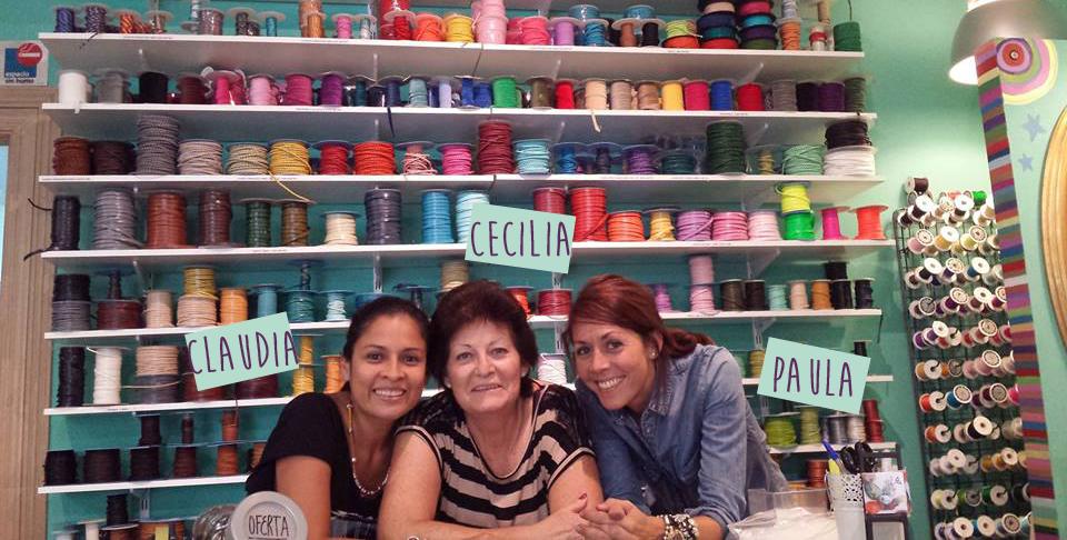 Claudia, Cecilia y Paula en nuestra tienda